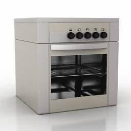 """Kitchen 69"" Interior collection 3D Models Cooker 3D"