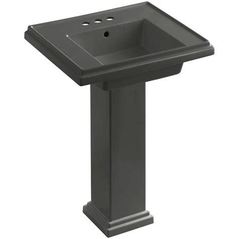 Kohler Tresham Pedestal Sink Specs by Kohler Tresham Ceramic Pedestal Combo Bathroom Sink With 4