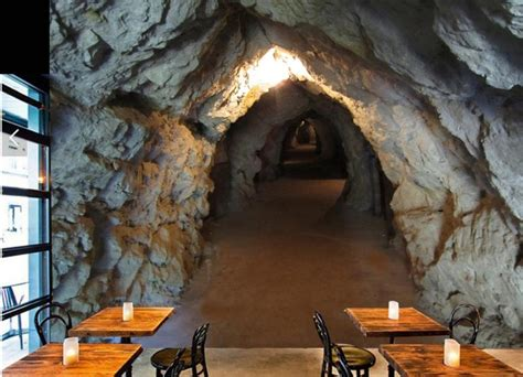 photo wallpaper cave tunnel stone  stereoscopic large