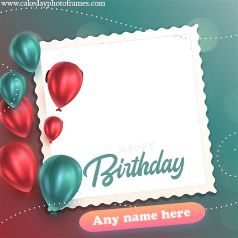 happy birthday greeting card    photo edit