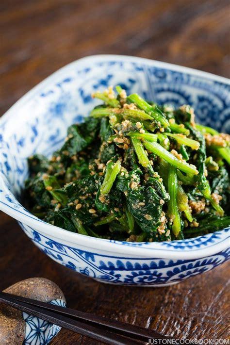 spinach gomaae recipe sesame sauce