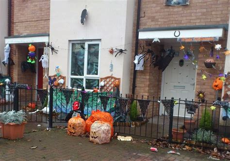 Up Decorations Uk by Northfield Horror Houses Covered In