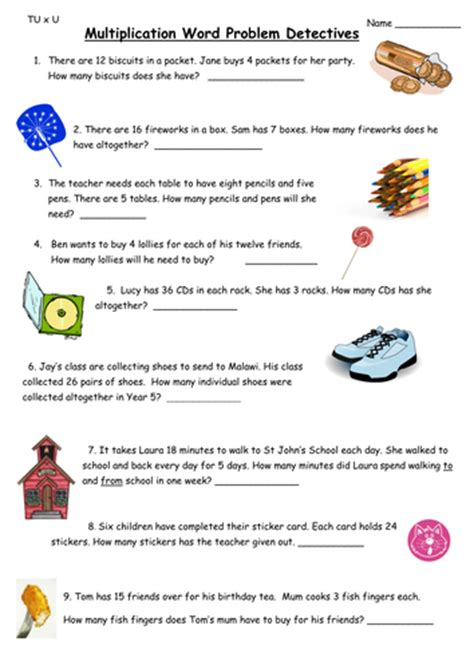 multiplication word problems by ali273 teaching resources