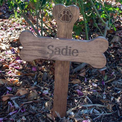 personalized  dog bone memorial cross wood burial