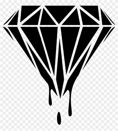 Diamond Clipart Clip Transparent Drip Dripping Coloring