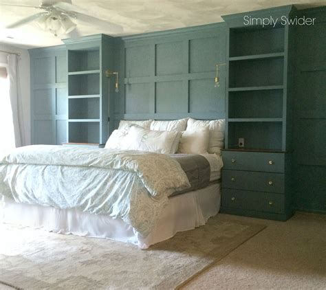 12 Bedrooms With Cool Built Ins by Diy Built Ins Using An Ikea Tarva Hack Around A Bed With