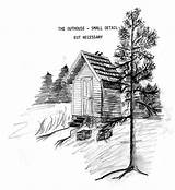 Outhouse Drawings Western Coloring Guidelines Template Sketch Railroad Scene sketch template