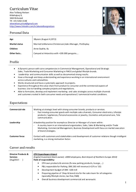 Mcdonalds Department Manager Resume by Alex Nielsen Cv