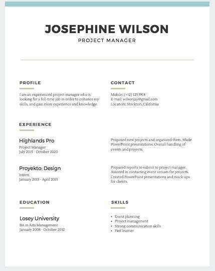 Easy Resume Template by Simple Resume Templates Fairygodboss