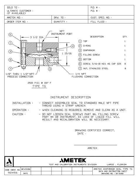 Type T Series for Corrosive Applications-AMETEK U.S. Gauge