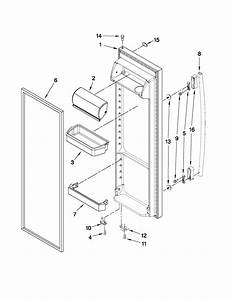 Refrigerator Door Parts Diagram  U0026 Parts List For Model Ed5lvaxwq02 Whirlpool