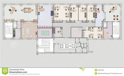 plan bureau immeuble de bureaux de plan illustration stock image