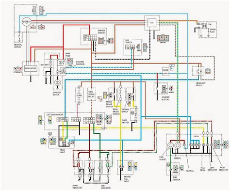 yamaha ybr  owner blog yamaha ybr  electrical system wiring diagrams  components