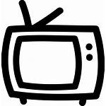 Outline Tv Icon Drawn Hand Clipart Svg