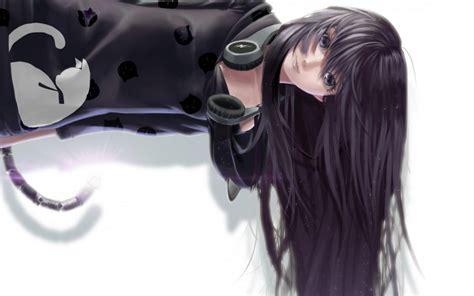 Anime Girl Cat Headphones Hd Desktop Wallpaper