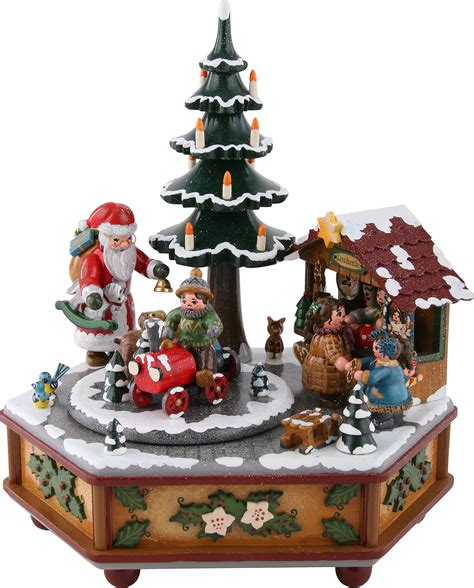 christmas music box box 22 cm 9in by hubrig volkskunst