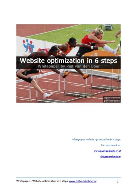 Site Optimization by Whitepaper Website Optimization In 6 Steps