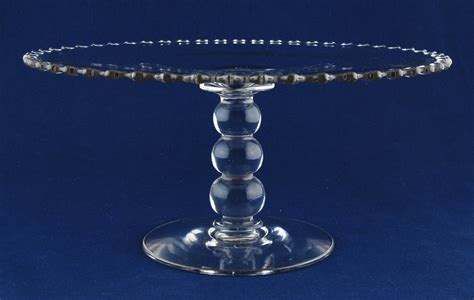imperial candlewick clear glass 11 quot cake stand plate 3 ...