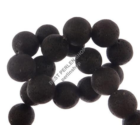 mm kugeln lava perlen stk edelstein schwarz naturstein