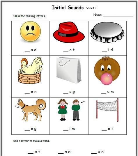 free cvc worksheets for kindergarten teaching