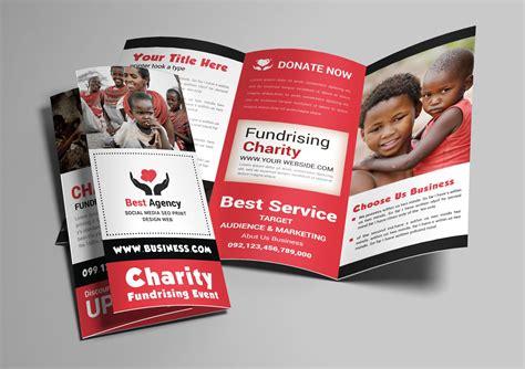 charity trifold brochure brochure templates creative