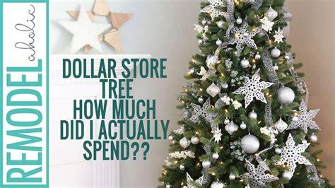 dollar store christmas tree decorating tutorial silver