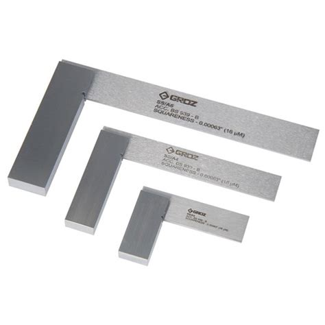groz precision engineering set squares carbatec