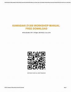 Kawasaki Z1300 Workshop Manual Free Download By