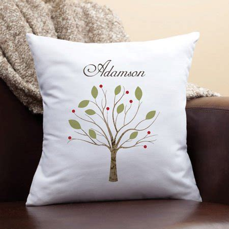 personalized family pillow personalized family tree pillow walmart