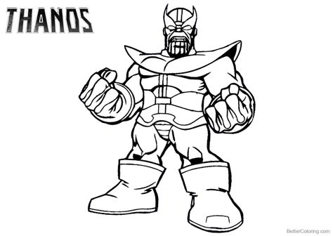 avengers coloring pages thanos thanos coloring pages from marvel avengers free