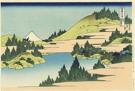 36 vues du mont fuji artmemo hokusai 36 vues du mont fuji le mont vu du lac hakone uedo mokuhansha