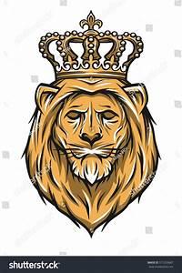 Head Lion Crown Color Version Stock Vector 371293687 ...