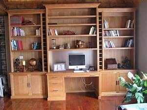 Hand Crafted Contemporary Wall Unit Office By James H