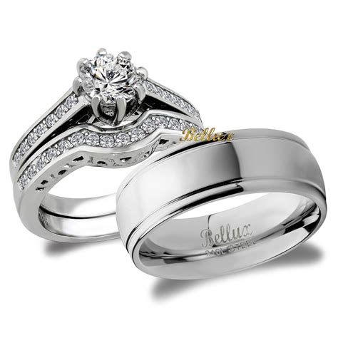 bridal matching wedding ring set ebay
