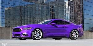 This Mustang on Niche Wheels is a Purple People Eater
