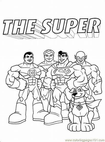 Dc Coloring Comics Pages Printable Cartoons Others