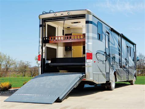 newmar class  toy hauler garage motorhome wow blog