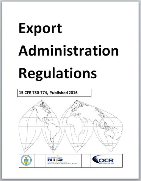 bureau of export administration ntis gov export administration regulations ear