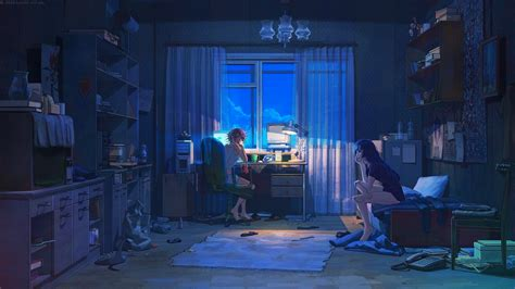 Anime Room Wallpaper - bedroom house anime scenery background wallpaper anime