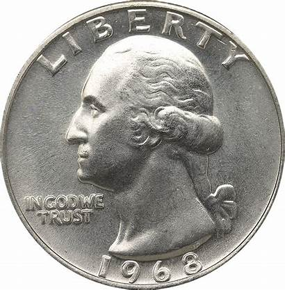 1968 Quarter Value Quarters Washington Obverse Mint