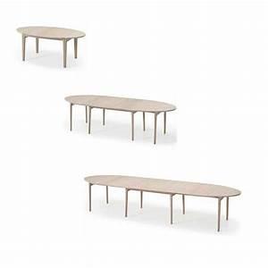 Table de salle a manger en bois ovale extensible ou fixe for Table salle a manger ovale