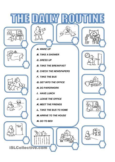 resultado de imagen de worksheet to teach daily routines