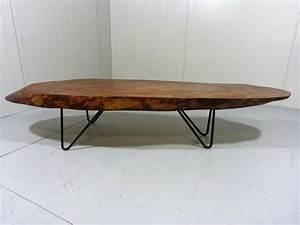 Table Basse En Acier : table basse vintage en bois massif et acier 1960 design market ~ Melissatoandfro.com Idées de Décoration