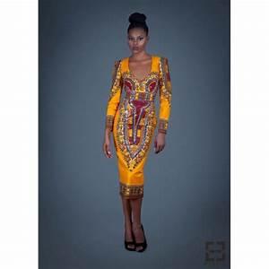 robe dashiki orangee ref 5 modeafricainecom With robe rouge orangée