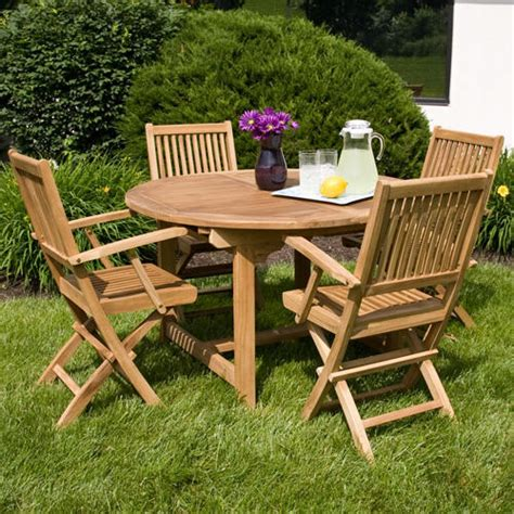 small wood folding table wooden garden