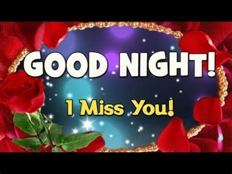 Romantic Good Night Message  I Miss You Youtube