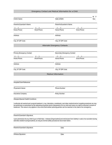 student information sheet template student
