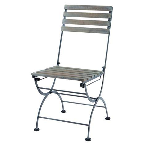 chaise de jardin grise chaise pliante de jardin en métal et acacia grise garden