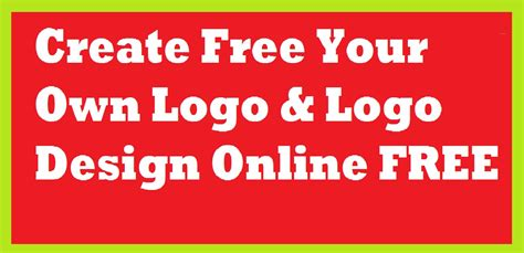 Create Free Your Own Logo & Logo Design Online Free