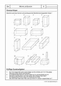 Volumen Quader Berechnen : mathematik geometrie arbeitsblatt w rfel quader k rper 8500 bungen arbeitsbl tter ~ Themetempest.com Abrechnung